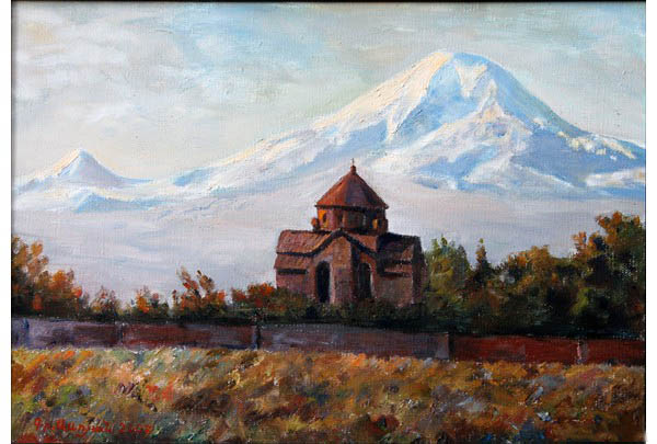 """Ripsimeh Church"" 35 х 50 oil on linen  2007"