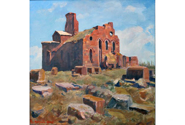 """Big Church of Talin"" 50 х 50 oil on linen 2005"