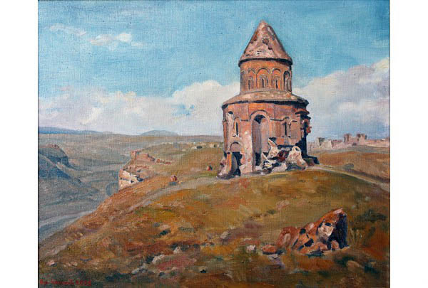 """Ani, Cathedral of Christ the Saviour"" 50 х 60 oil on linen 2005"